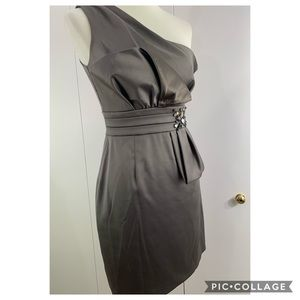 MAXANDCLEO 2 Olive one shoulder dress